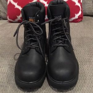 Timberland Shoes - Timberland Pro 24/7 Black Steel Toe Boot Size 10.5